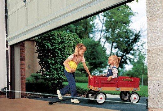 kids playing by Pittsburgh garage doors
