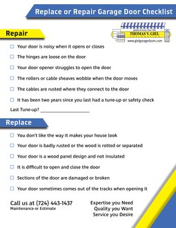 Giel Garage Doors Blog Repair Or Replace Your Garage